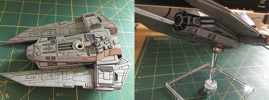 Magnetizing X-Wing Miniatures Models - Decimator