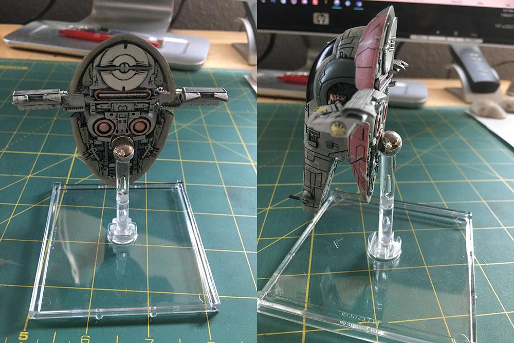 Magnetizing X-Wing Miniatures Models - Firespray