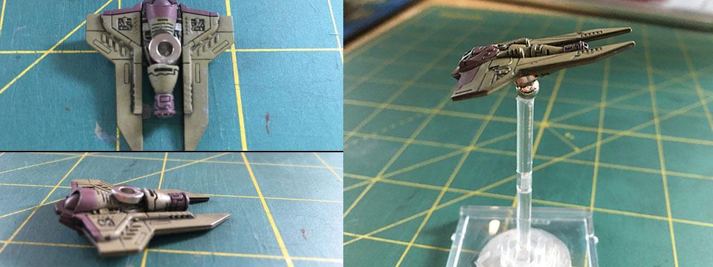 Magnetizing X-Wing Miniatures Models - M3A Interceptor